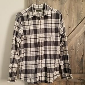 Eddie Bauer flannel button down shirt LT